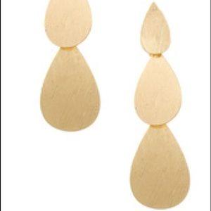 Jewelry - Stacked Metal Teardrop Earrings